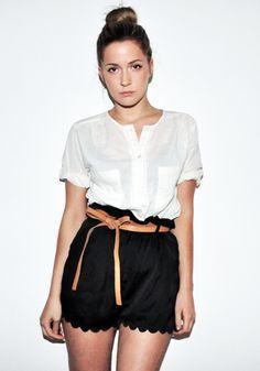 love shorts with a scalloped hem.. very feminine!