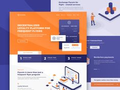 Website Design for Blockchain Loyalty Frequent Flyer Platform