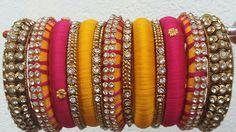 Silk Thread Bangles, Thread Jewellery, Indian Jewelry, Indian Bangles, Paper Earrings, Thread Work, Jewelery, Handmade Jewelry, Purses
