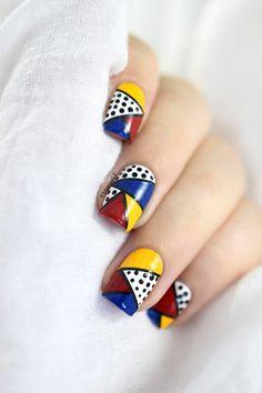Marine Loves Polish: Nailstorming - Pop Art [VIDEO TUTORIAL] - Pop art nailart - roy lichtenstein