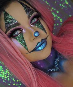 Schöne Clowns – # Make-up # Schön - Makeup Looks Dramatic Halloween Makeup Clown, Halloween Eyes, Halloween Looks, Cute Clown Makeup, Halloween Design, Halloween 2018, Halloween Costumes, Crazy Makeup, Pretty Makeup