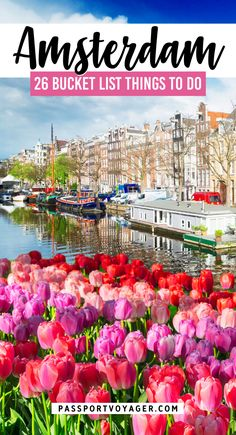 Don't miss the 25 hidden (and not-so-hidden) gems in this epic Amsterdam bucket list! Where to eat, what to explore, day trips from Amsterdam, and more. Europe Destinations, Amazing Destinations, Road Trip Europe, Europe Travel Guide, Travel Guides, Traveling Europe, Day Trips From Amsterdam, Amsterdam Travel, European Travel Tips