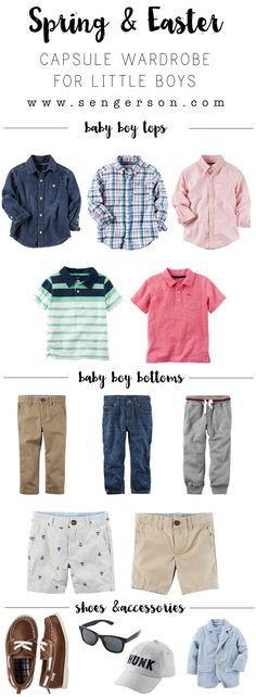 Create capsule wardrobes for boys for daily wear or just to ensure that you have the essentials for when you need to put together a cute outfit for baby boy for a party or get together! @cartersbabykids  #lovecarters #ad