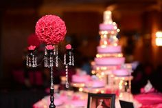 Quinceanera table centerpiece