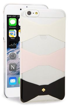 Free shipping and returns on kate spade new york 'bow tiles' iPhone 6 Plus & 6s Plus case at Nordstrom.com. Signature bows put the pretty on kate spade's hard-shell phone case made to protect—and show off—your favorite tech.