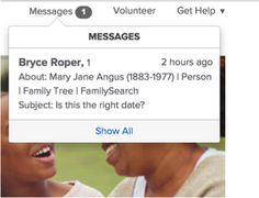 family search messaging now on familysearch.org