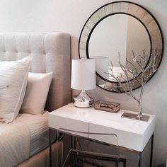 Maximize the Space in a Small Apartment {Use Your Night Stand as Your Desk} | Progression By Design