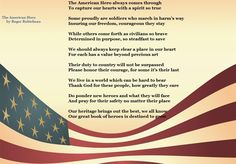 The American Hero ....a poem by Roger Robicheau #veteransday #military