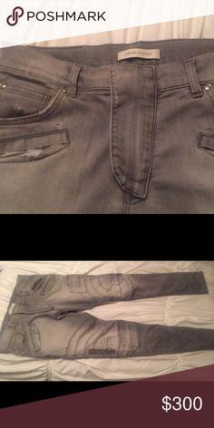 Men's Balmain Jeans Sz 32 gray slightly worn retail 700 Balmain Jeans Skinny