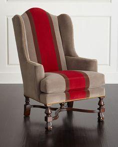 Albertini Wing Chair by Massoud at Neiman Marcus.