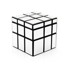 CUBO 3x3x3 MIRROR'S PLATA-MATE. MIRROR  SILVER 3x3. http://www.maskecubos.com/es/especiales/555-mirror-silver-3x3x3-cubo-magico-base-negra-311136048638.html