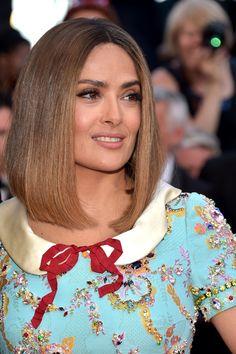 Salma Hayek's Blunt Lob - The Very Best Medium-Length Hairstyles - Photos