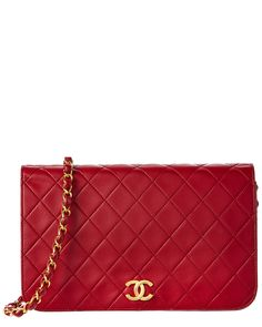 Spotted this Chanel Red Quilted Lambskin Full Single Flap Bag on Rue La La. Shop (quickly!).