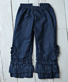 Denim Ruffle Jeans - Infant, Kids & Tween by Lollies and Lace Boutique #zulilyfinds