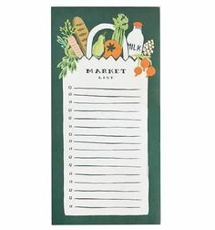 Keep your market shopping list organized with this handy shopping pad with a grocery bag motif. Includes boxes for easy check-off and an attachable magnet to hang on your fridge. By Rifle Paper C. Rifle Paper Company, Printable Shopping List, Shopping Lists, Grocery Lists, Grocery Store, Baby Shower Prizes, Shower Games, Little Red Hen, Unique Baby Shower