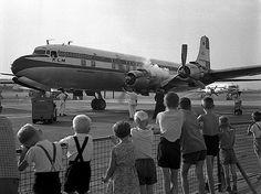 Vliegtuig spotten op Schiphol jaren vijftig Amsterdam