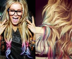 i want to do this, but i'm not sure how it would look in dark red hair... but it's so cute!