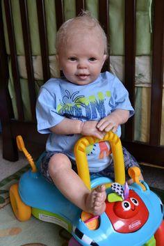 "OOAK Reborn 26"" Toddler Boy baby  Bentley doll original art newborn"