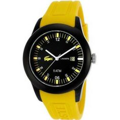 Review Lacoste Advantage Yellow Silicone Mens Watch 2010673 price - Stainless steel case. Silicone strap. Black dial. Quartz movement. Date. Water resistant 50 meters. Case 42mm. Material: Stainless Steel Color: Black Gender: Men Age: Adult Condition:...