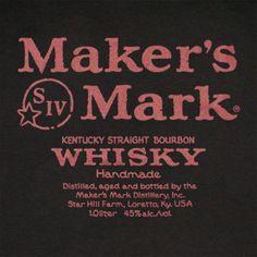 Maker's Mark Whiskey T-Shirt - Black #MakersMark #Whiskey #Shirts