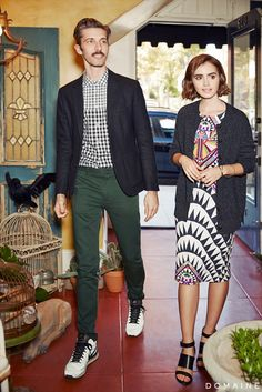 Lily Collins Takes Us Inside Her Mother's Cool LA Antiques Shop via @domainehome
