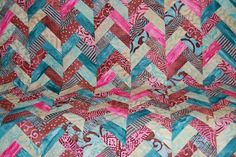 The Batik Braid Quilt Tutorial | ReannaLily Designs - no matching intersections to worry about. Would be pretty quick.