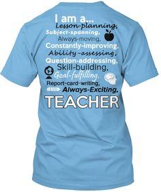 """Win an """"I am a... Teacher"""" Shirt!"""