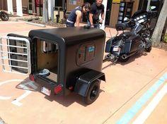Custom Dog trailer with AC Dog Bike Trailer, Camping Trailer Diy, Motorcycle Trailer, Cycle Dog, Motorcycle Luggage, Motorcycle Gear, Dog Carrier Bag, Bicycles For Sale, Harley Bikes