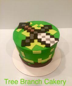 Minecraft kids birthday  #treebranchcakery
