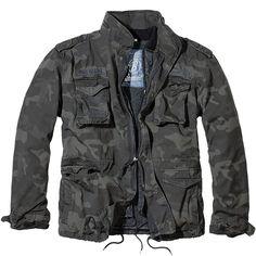 Brandit M65 Giant Field Jacket Mens Army Coat Vintage Warm Liner Parka Dark Camo #Brandit #Military