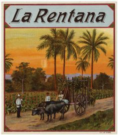 La Rentana cigar box label.