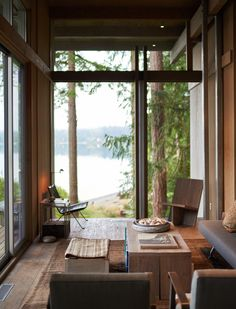 Home Interior, Interior And Exterior, Interior Design, Decoration Design, Cabins In The Woods, Mid Century House, Cabana, Living Spaces, Living Rooms