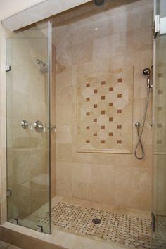 Marbles bathroom and dark on pinterest for Crema marfil bathroom ideas