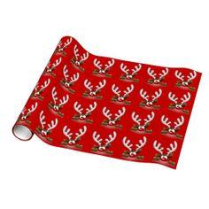 Funny Reindeer Gift Wrap
