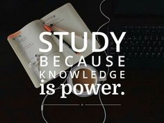 study, knowledge, and power image