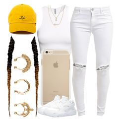 """""""Untitled #501"""" by foreverkaylah ❤ liked on Polyvore featuring H&M, FiveUnits, Charlotte Russe, Crislu and NIKE"""