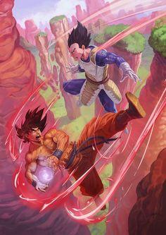 Goku versus Vegeta.