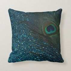 NicholasArt Glittery Aqua Peacock Feather Decorative Square Throw Pillow Case Personalized Cushion Cover Home Decorative Pillow Cover Peacock Living Room, Peacock Bedroom, Peacock Pillow, Bedroom Colors, Peacock Room Decor, Peacock Nursery, Peacock Bedding, Peacock Quilt, Peacock Dress