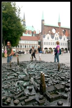 A model of medieval Lübeck in the heart of the city, Luebeck, Germany Copyright: Sebastian Stauch