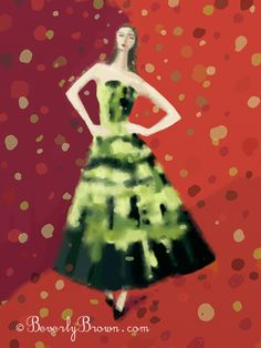 Digital Fashion Illustrations - Raf Simons for Christian Dior Couture