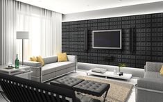 Full size of decorating home interior design living room sitting room interior design home decor ideas Faux Leather Walls, Leather Wall Panels, Faux Walls, Black Leather, Real Leather, Home Interior, Interior Design Living Room, Living Room Designs, Interior Ideas