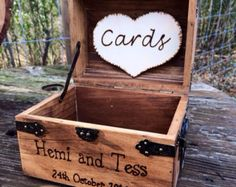 Shabby Chic and Rustic Wooden Card Box - Rustic Wedding Card Box - Rustic Wedding Decor - Advice Box - Piggy Bank