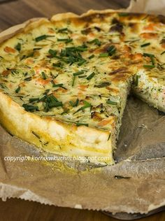 Tarta z łososiem i cukinią Fish Recipes, Seafood Recipes, Cooking Recipes, Quiche Recipes, Brunch Recipes, Good Food, Yummy Food, Best Food Ever, Happy Foods