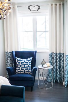 blue and white accents | edmonton interior design | nathan walker photography