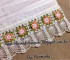 OFICINA DO BARRADO: Novo projeto... Barrado concluido!!! Crochet Borders, Filet Crochet, Crochet Lace, Crochet Edgings, Crochet Baby Sweaters, Chrochet, Lace Trim, Free Pattern, Projects To Try