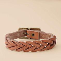 FOSSIL® Jewelry Bracelets:Women Orange Braided Wrap