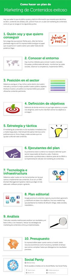 Cómo hacer un plan de marketing de contenidos exitoso #infograifa #infographic