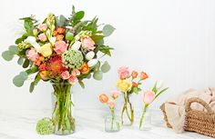 Why they're different: Can't get to a computer? The company's latest development—their own mobile app—allows customers to order handcrafted collections while on the go. Arrangements wrapped in burlap, with a handwritten note, add a charmingly rustic touch to each curated bundle. From $35; bloomthat.com
