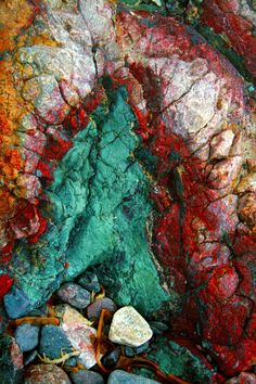 Texture :: PHOTOGRAPHY :: Natural Pattern by Luke Tierney, via Behance  Physical Texture  I love the colors of these rocks. Patterns In Nature, Nature Pattern, Textures Patterns, Texture Photography, Abstract Photography, Pattern Photography, Natural Forms, Natural Texture, Collage