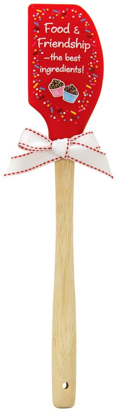 Amazon.com: Brownlow Gifts Food and Friendship Silicone Spatula: Kitchen & Dining